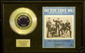 "BRIAN POOLE-7""Platinum Disc & song sheet-DO YOU LOVE ME"